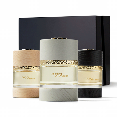 Wood White, Wood Gray, and Wood Black Perfumes Collection