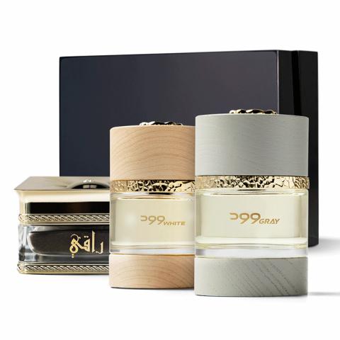 Wood White, and Wood Gray Perfumes and Dakhoun Raqi Collection